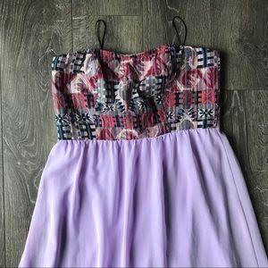Double Zero Strapless Purple Maxi Dress